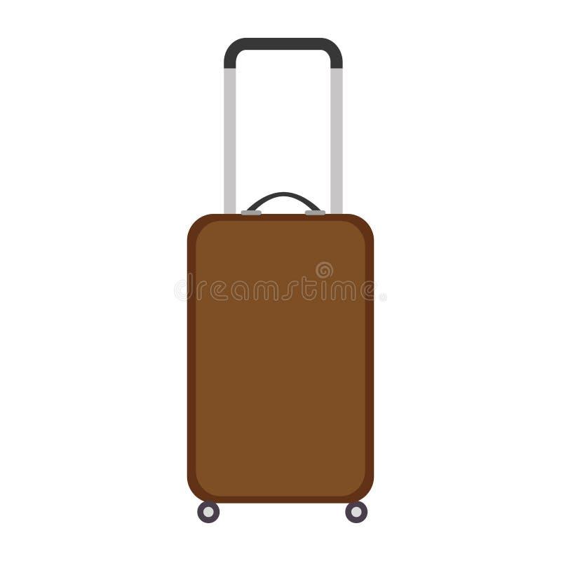 Icono aislado viaje de la maleta libre illustration