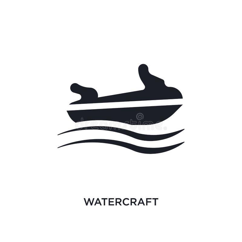 icono aislado watercraft negro del vector ejemplo simple del elemento de iconos náuticos del vector del concepto logotipo editabl ilustración del vector