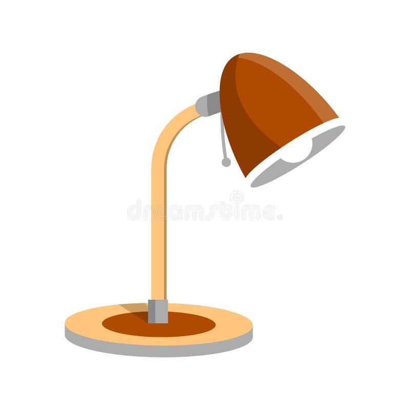 Icono ajustable de la lámpara de la luz del escritorio en estilo plano libre illustration