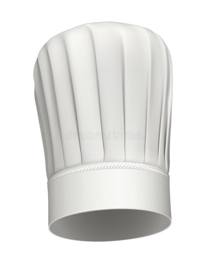 Icono alto del vector del sombrero del cocinero stock de ilustración