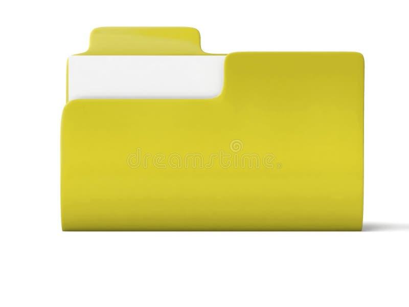 Icono amarillo de la carpeta fotos de archivo libres de regalías