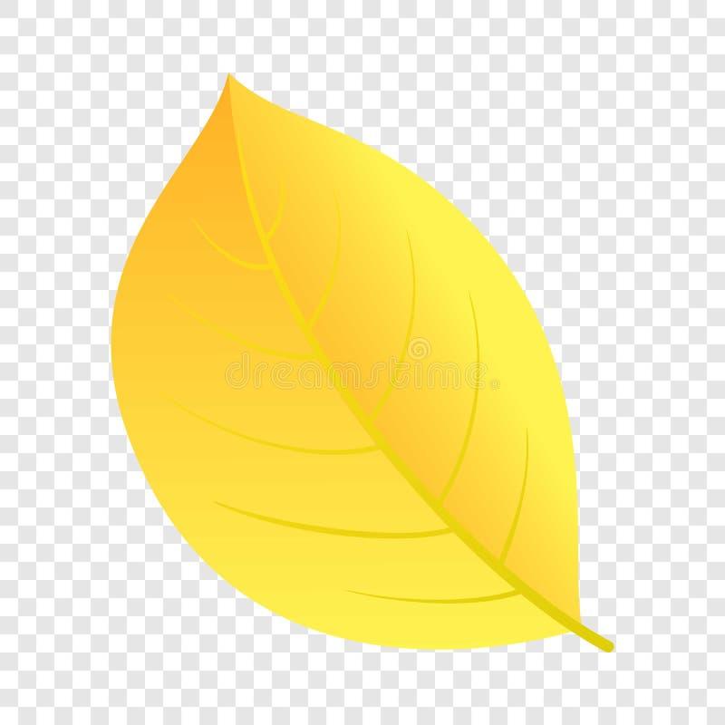 Icono amarillo de la hoja del otoño, estilo plano libre illustration