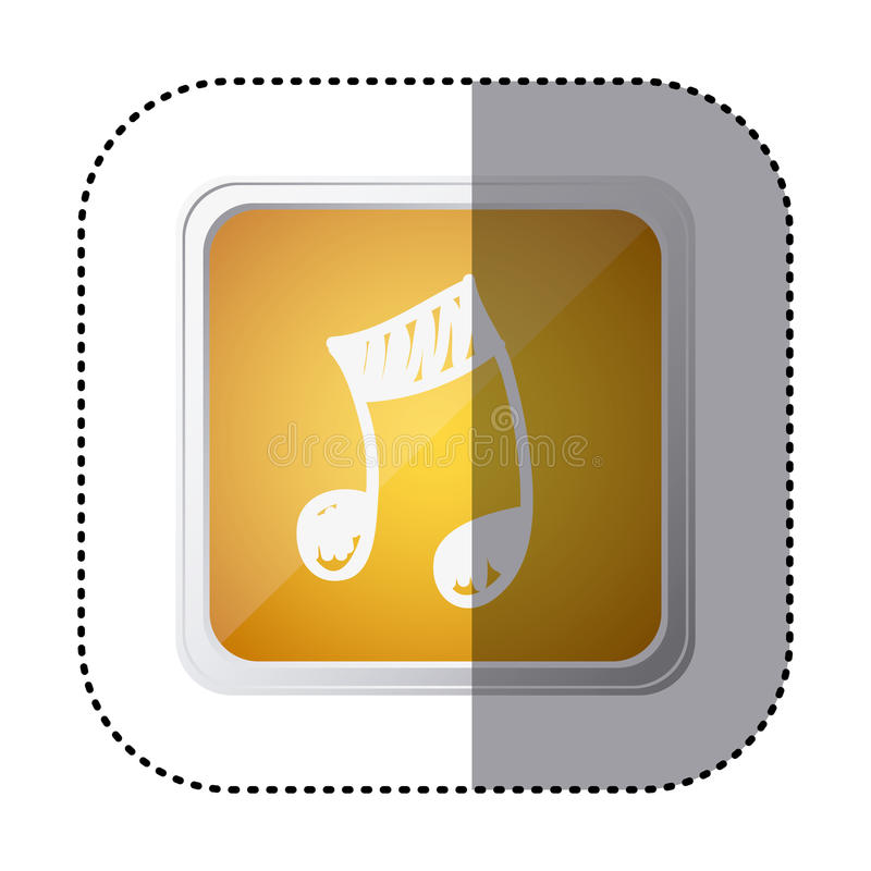 icono amarillo de la muestra de la música del símbolo stock de ilustración