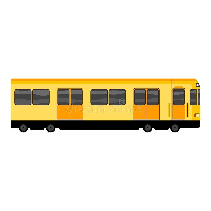 Icono amarillo del metro, estilo de la historieta stock de ilustración