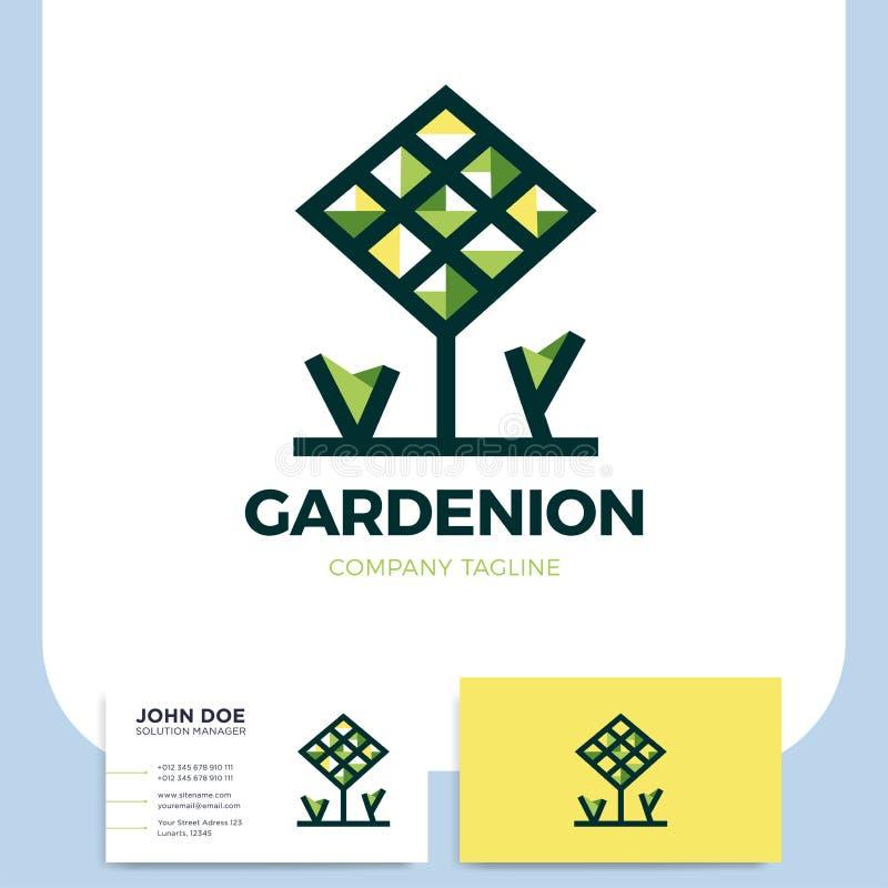 Icono ambiental del logotipo del vector de la naturaleza del verde del eco del bosque del árbol libre illustration