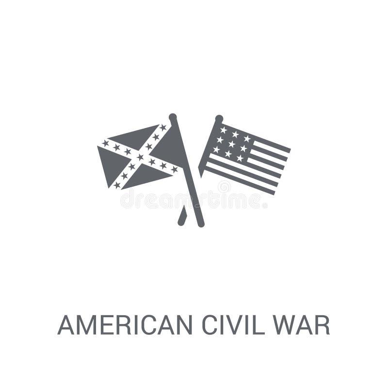 icono americano de la guerra civil  libre illustration