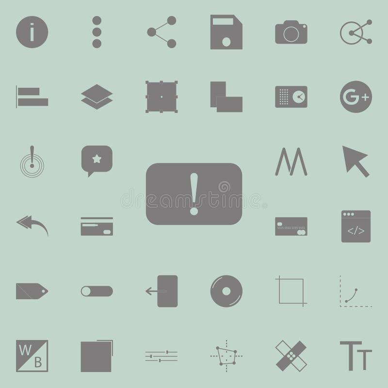 icono amonestador Sistema detallado de iconos minimalistic Muestra superior del diseño gráfico de la calidad Uno de los iconos de ilustración del vector