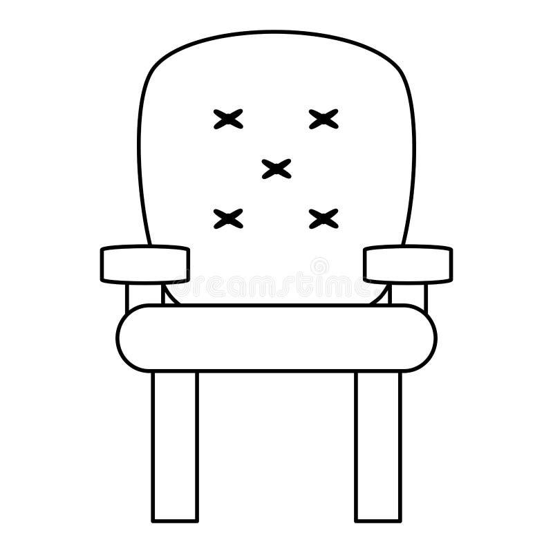 icono amortiguado de la butaca, ejemplo stock de ilustración