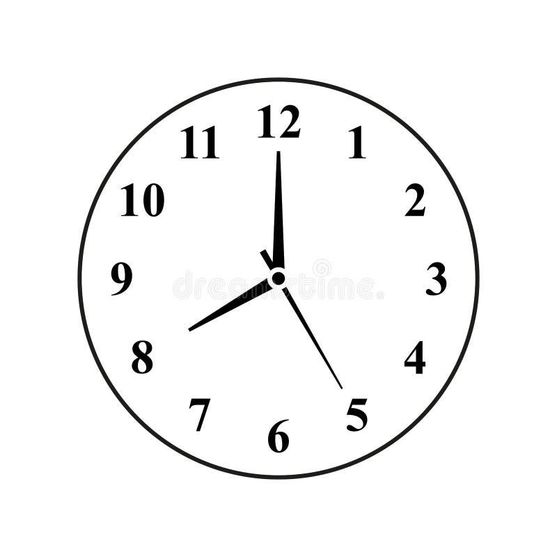 Icono análogo del vector del reloj imagen de archivo