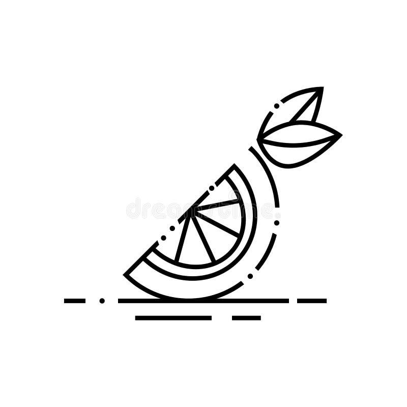 Icono anaranjado cortado del vector ilustración del vector