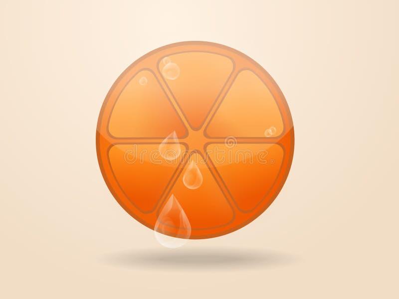 Icono anaranjado de la fruta fotografía de archivo libre de regalías