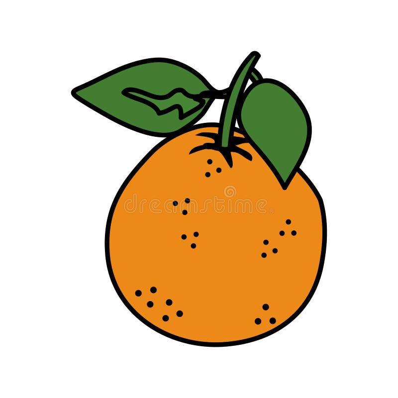 Icono anaranjado de la fruta fresca ilustración del vector