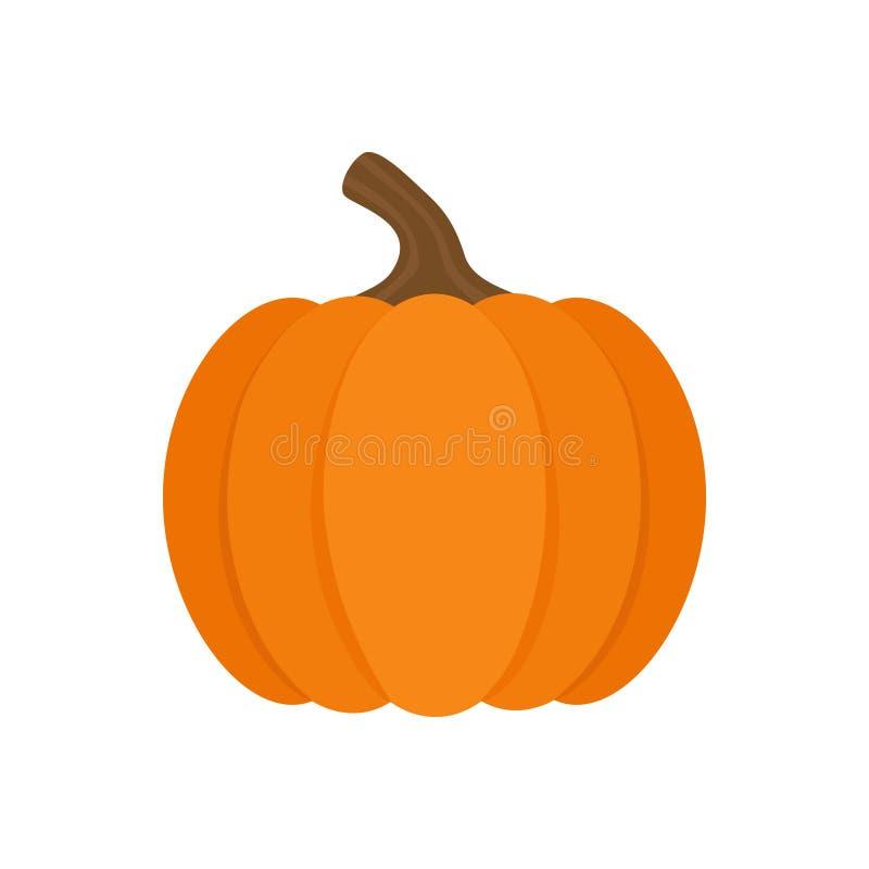 Icono anaranjado del ejemplo del vector de la calabaza libre illustration