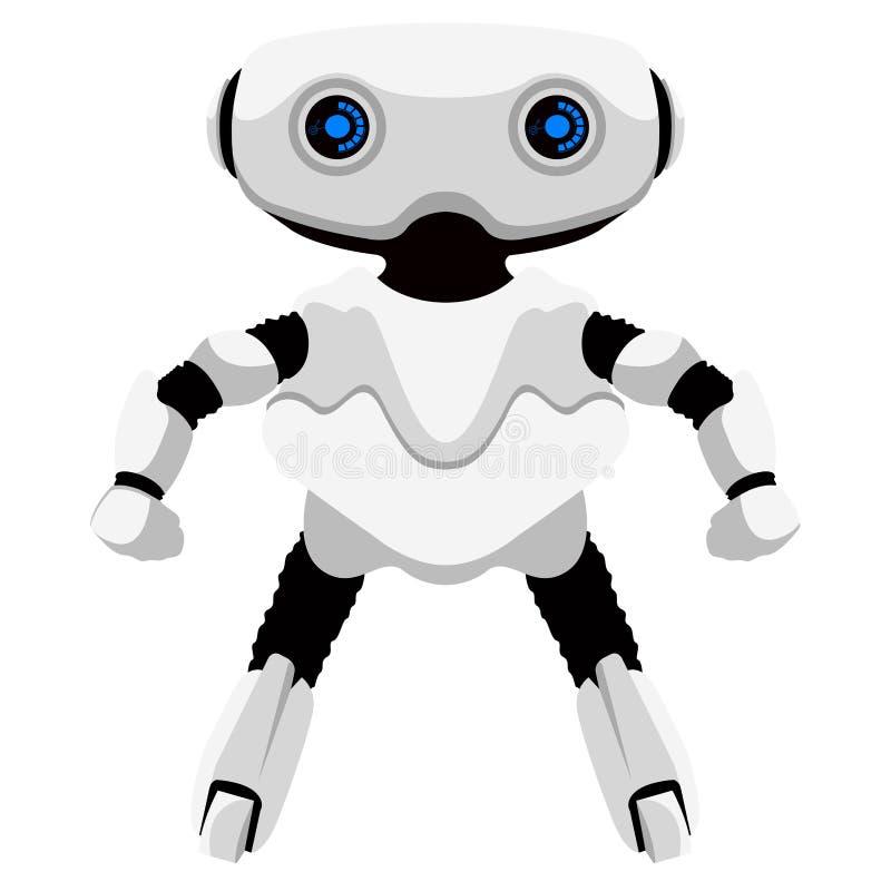 Icono androide lindo aislado stock de ilustración