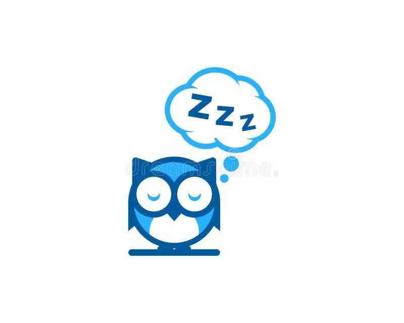 Icono animal Logo Design Element del sueño ilustración del vector