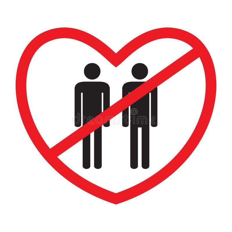 icono Anti-homosexual ilustración del vector