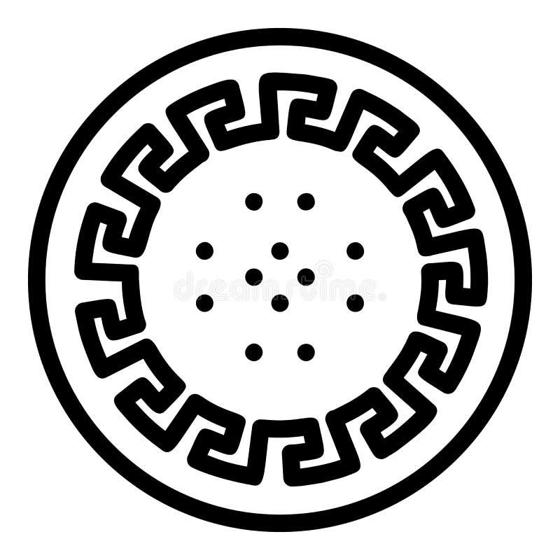 Icono antiguo de la galleta del estilo, estilo del esquema libre illustration