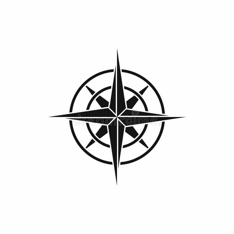Icono antiguo del compás, estilo simple libre illustration