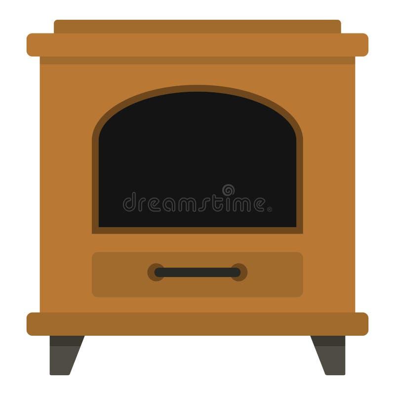 Icono antiguo del horno, estilo de la historieta ilustración del vector