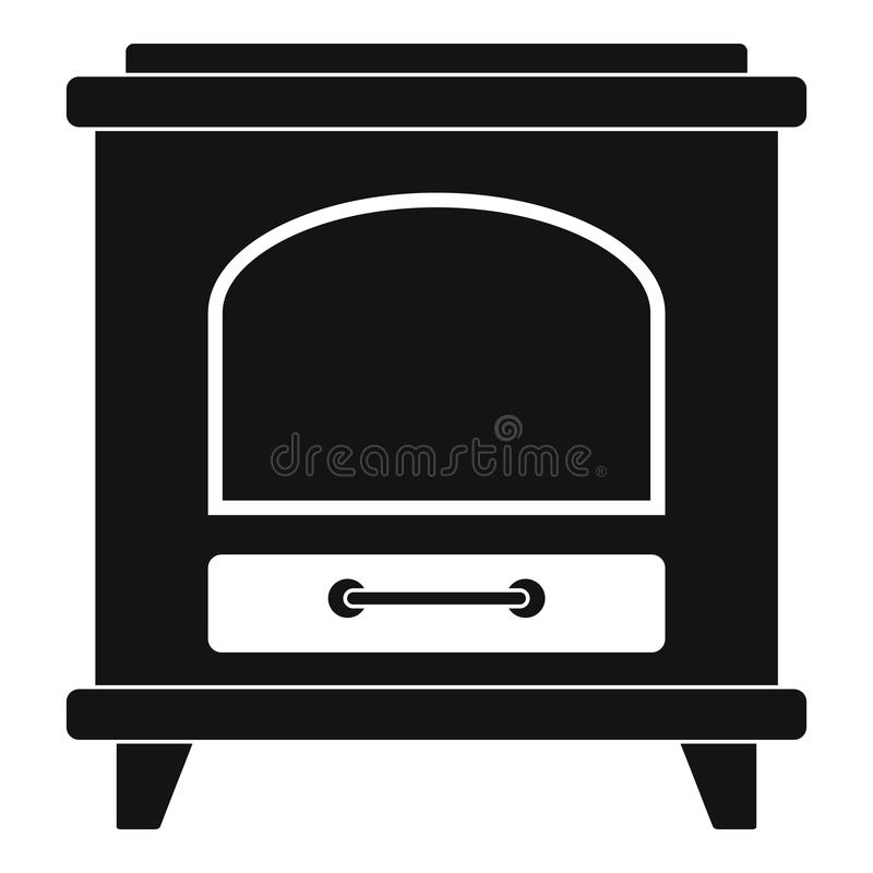 Icono antiguo del horno, estilo simple libre illustration