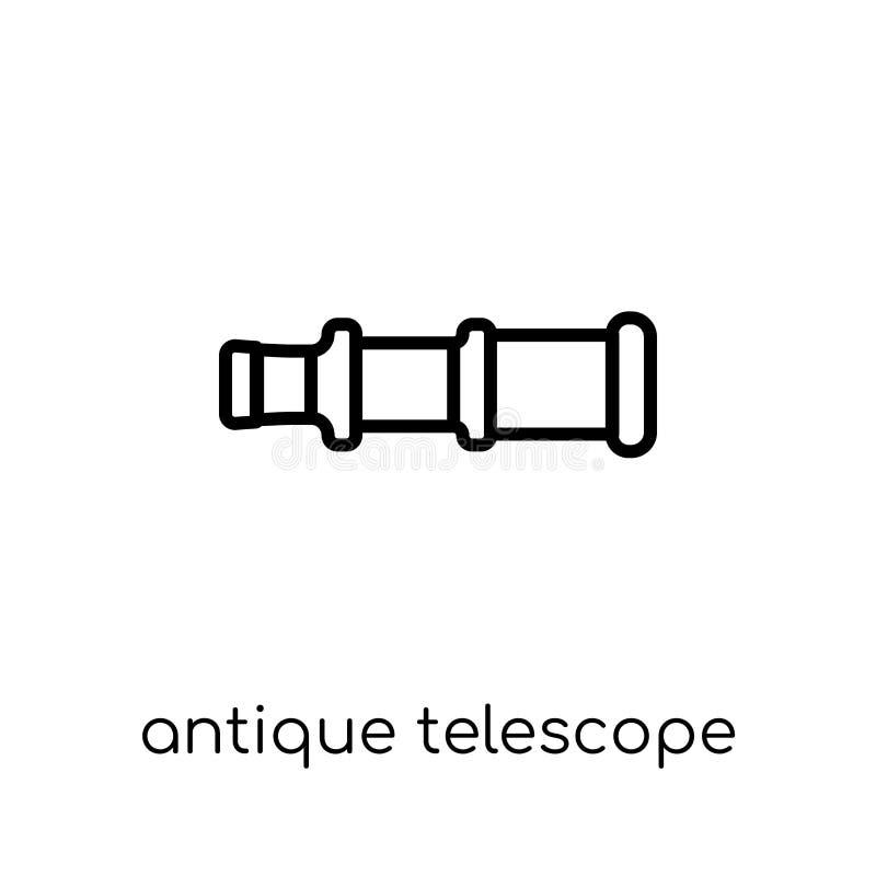 Icono antiguo del telescopio Antigüedad linear plana moderna de moda del vector libre illustration