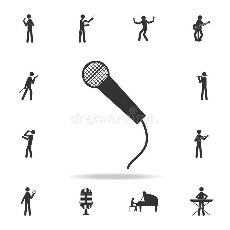 Icono app del micrófono Sistema detallado de iconos de la música Diseño gráfico de la calidad superior Uno de los iconos de la co libre illustration