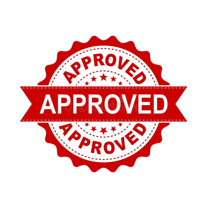 Icono aprobado del vector del sello del sello Approve aceptó el vec plano de la insignia stock de ilustración
