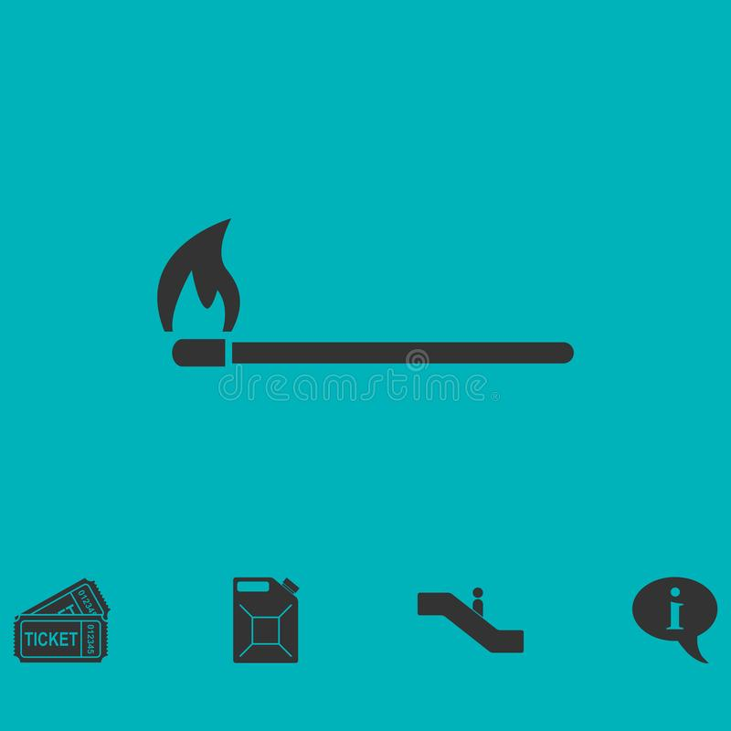 Icono ardiendo del partido completamente libre illustration