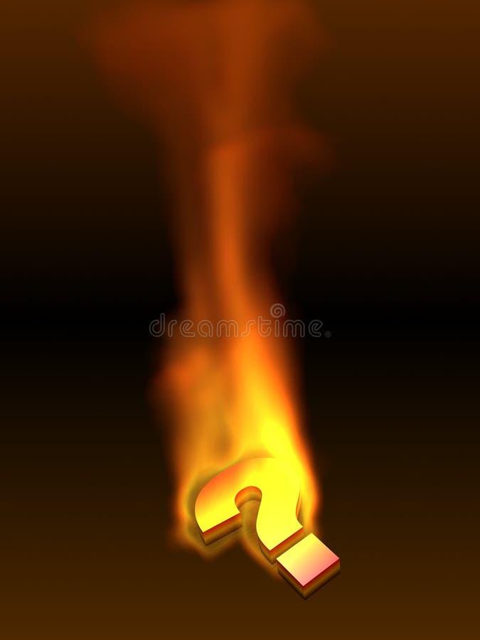 Icono ardiente del signo de interrogación libre illustration