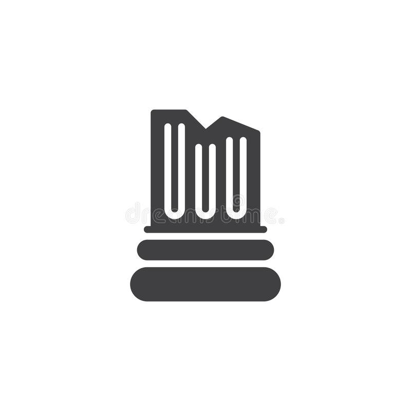 Icono arquitectónico del vector de la columna ilustración del vector