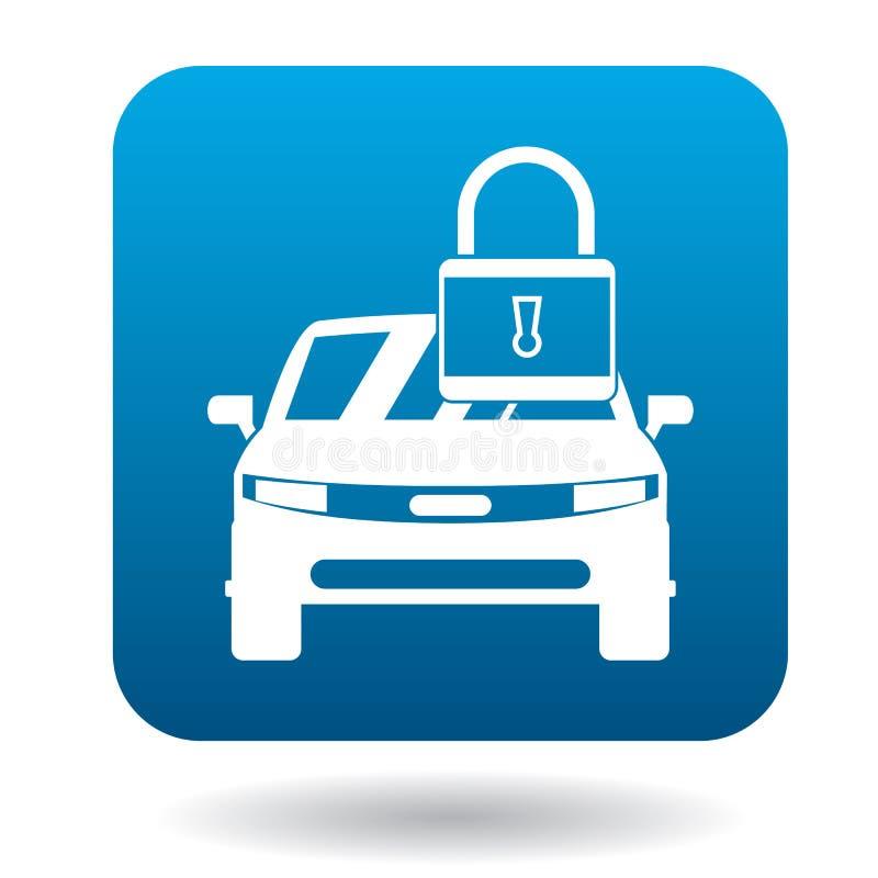 Icono arrestado del coche, estilo simple ilustración del vector