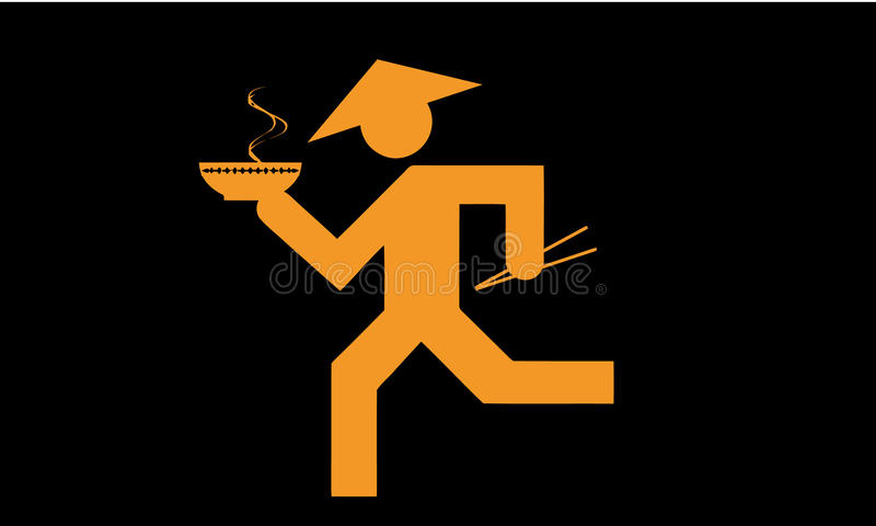 Icono asiático del abastecimiento de la comida ilustración del vector