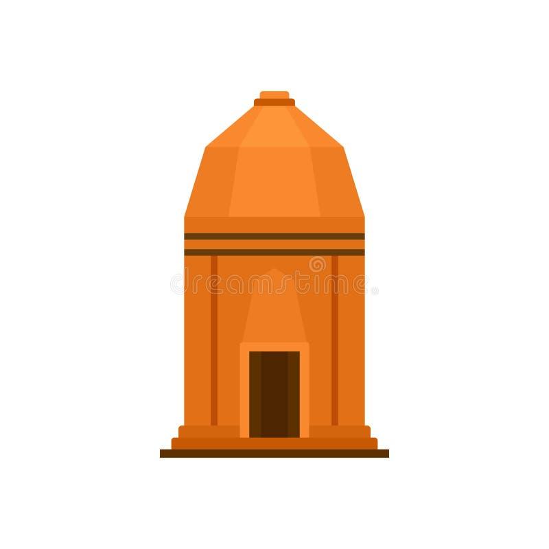 Icono asiático del templo, estilo plano libre illustration