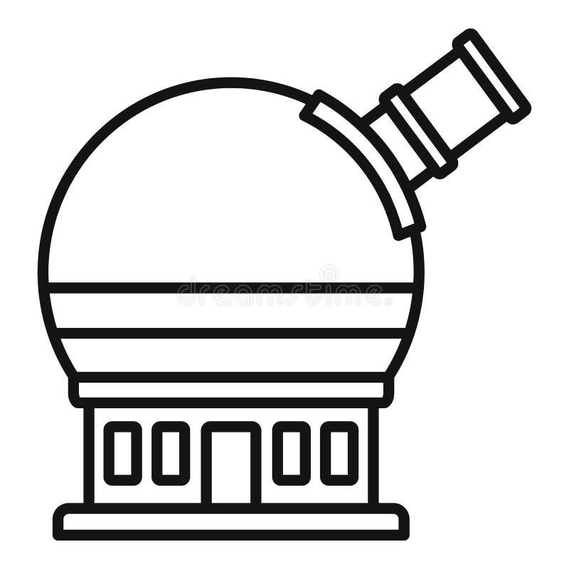 Icono astronómico del observatorio, estilo del esquema ilustración del vector