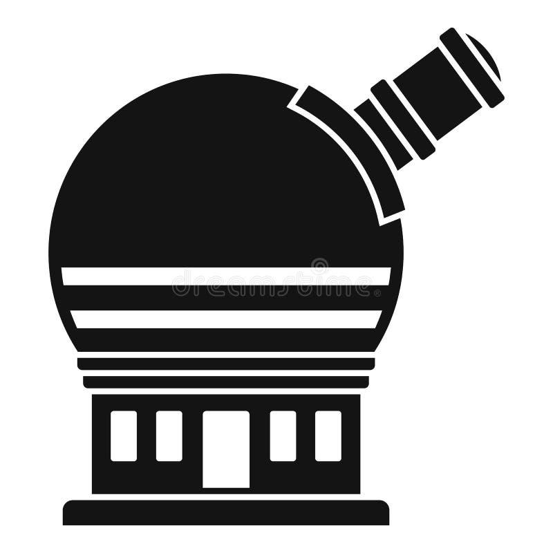 Icono astronómico del observatorio, estilo simple libre illustration