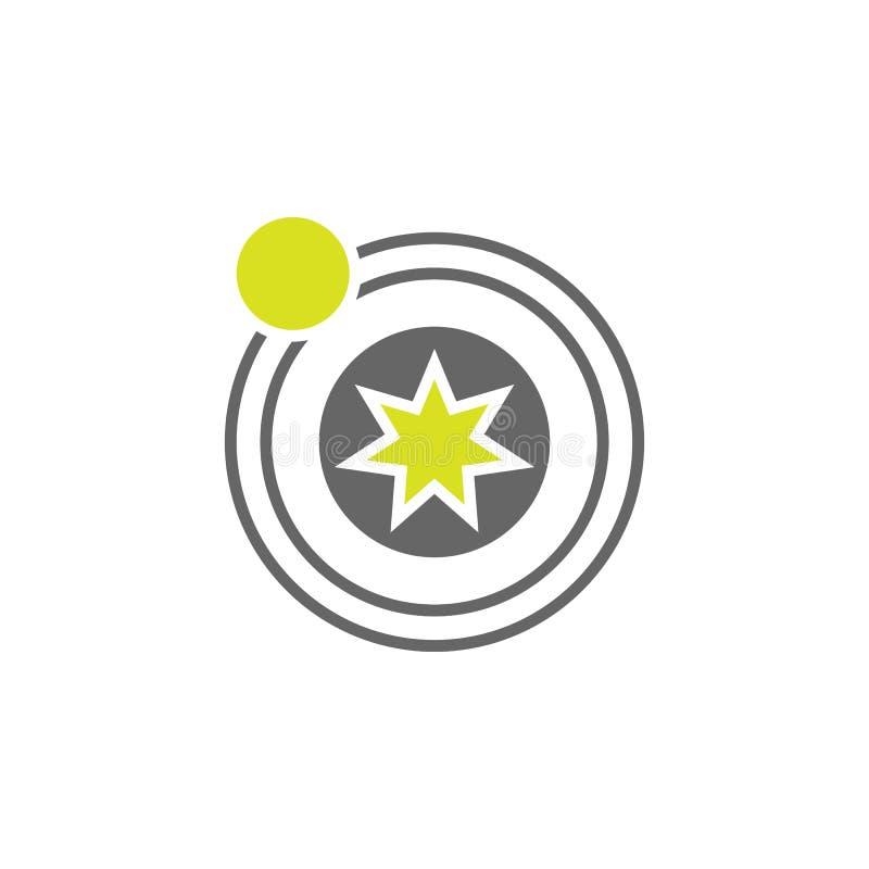 Icono astronómico, planetario Elemento del icono del experimento de la ciencia para los apps móviles del concepto y de la web Pod libre illustration