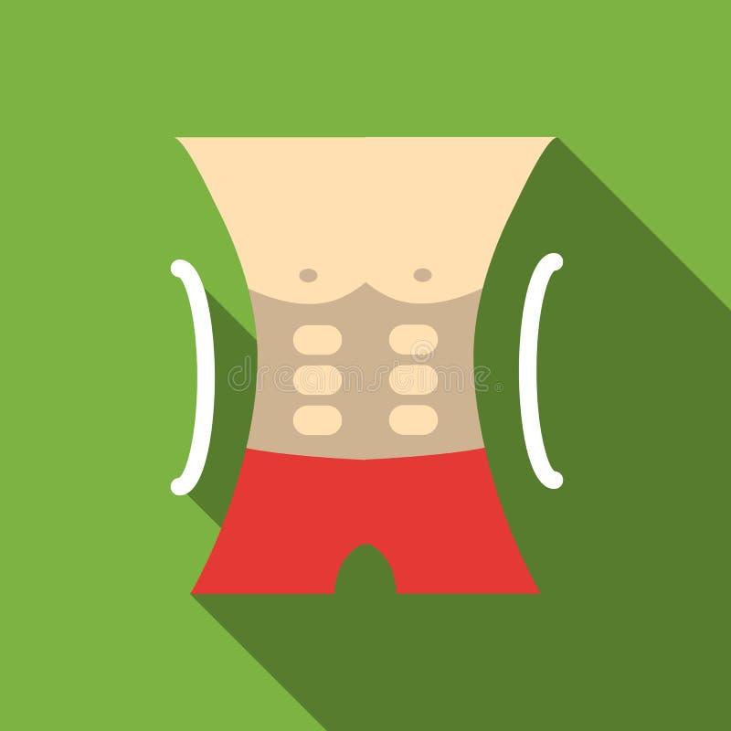 Icono atlético del torso de los hombres, estilo plano libre illustration
