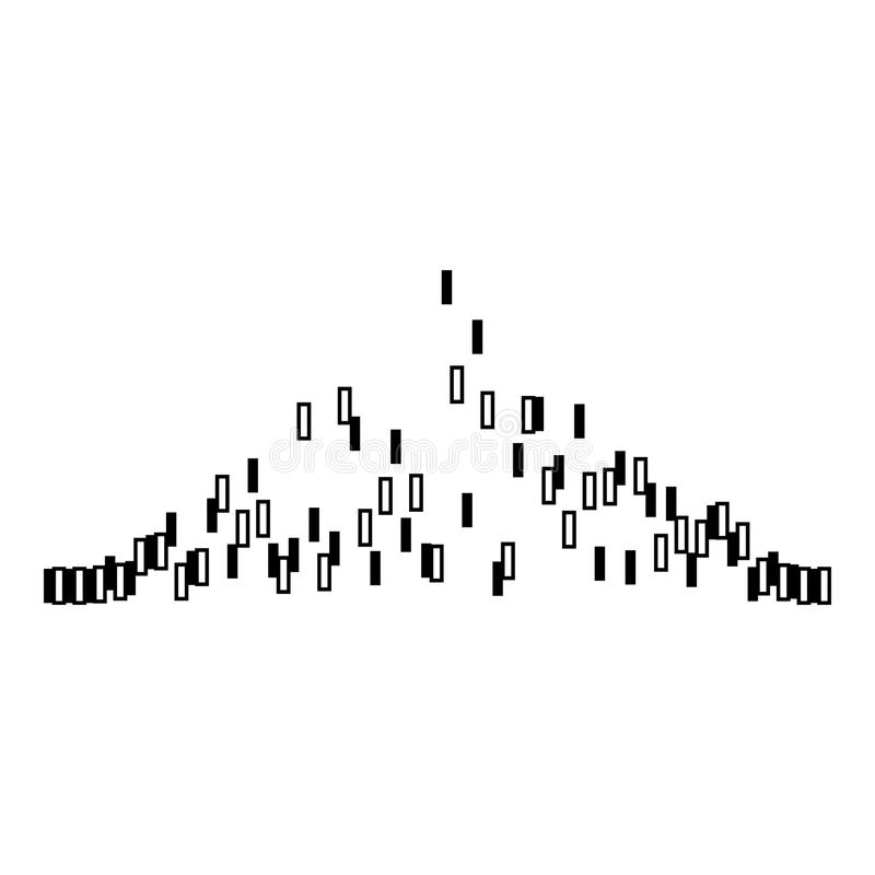Icono audio de la voz del equalizador, estilo negro simple libre illustration