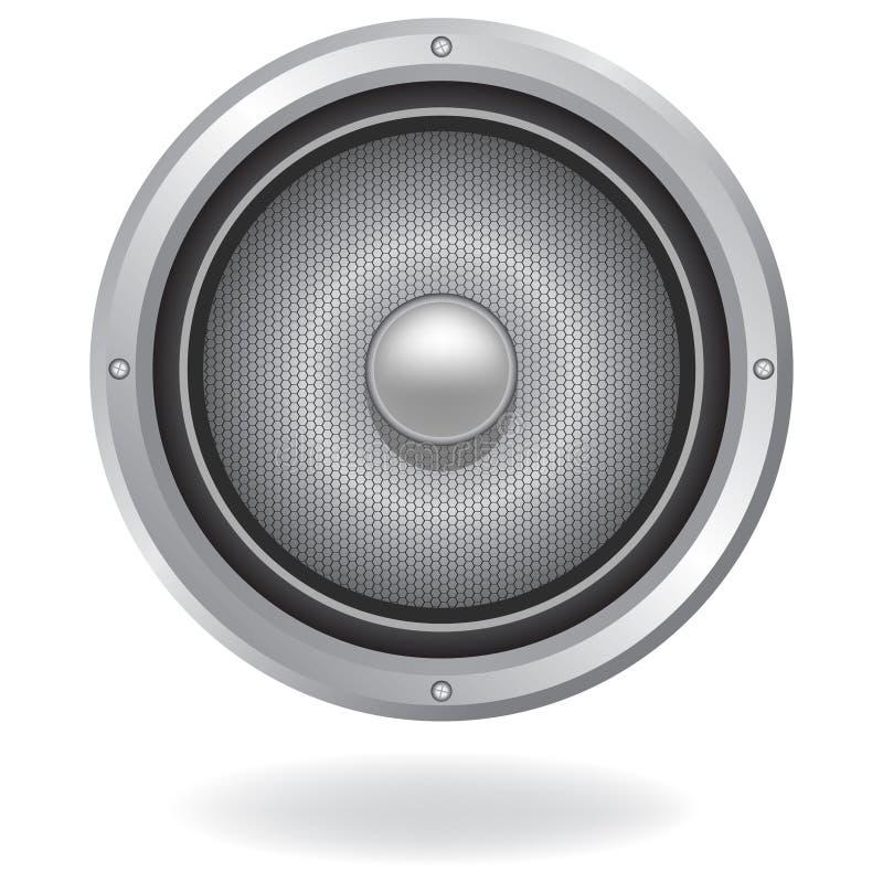 Icono audio del altavoz ilustración del vector