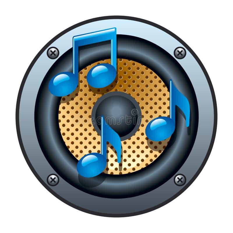 Icono audio del altavoz stock de ilustración
