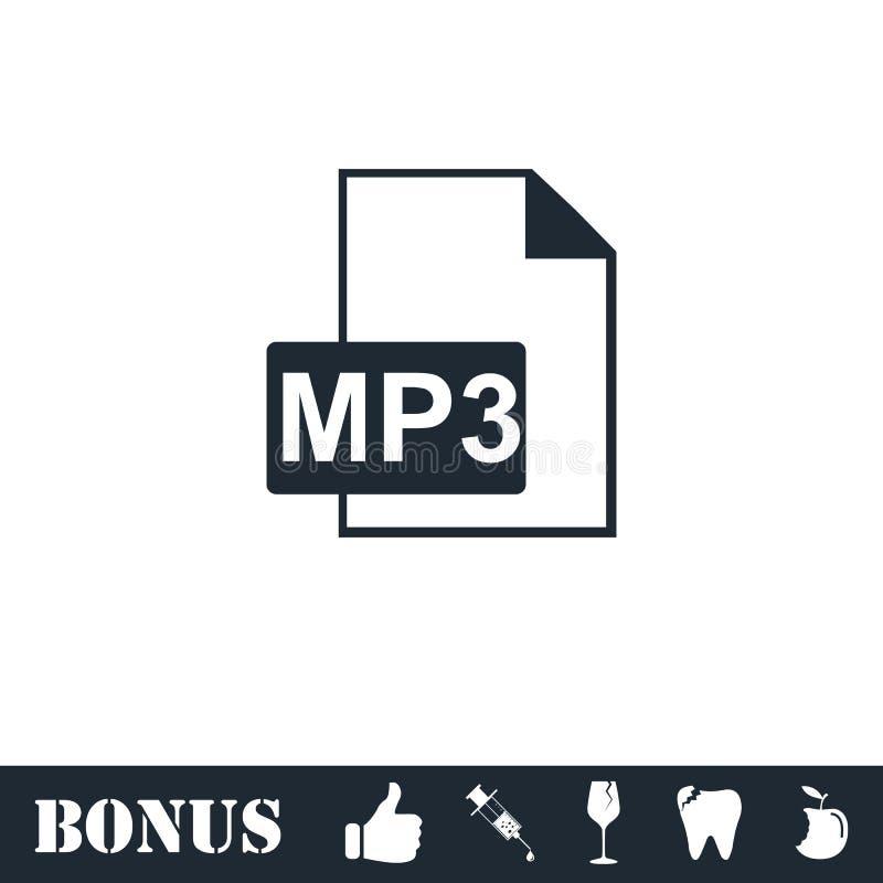 Icono audio del fichero plano stock de ilustración