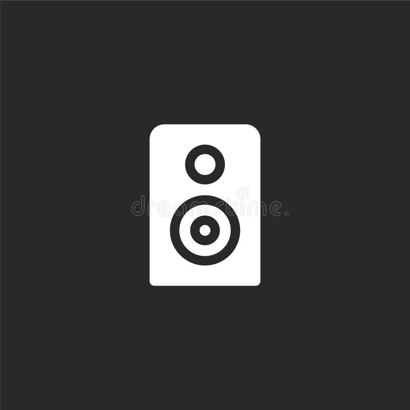 icono audio Icono audio llenado para el diseño y el móvil, desarrollo de la página web del app icono audio de la colección llenad stock de ilustración