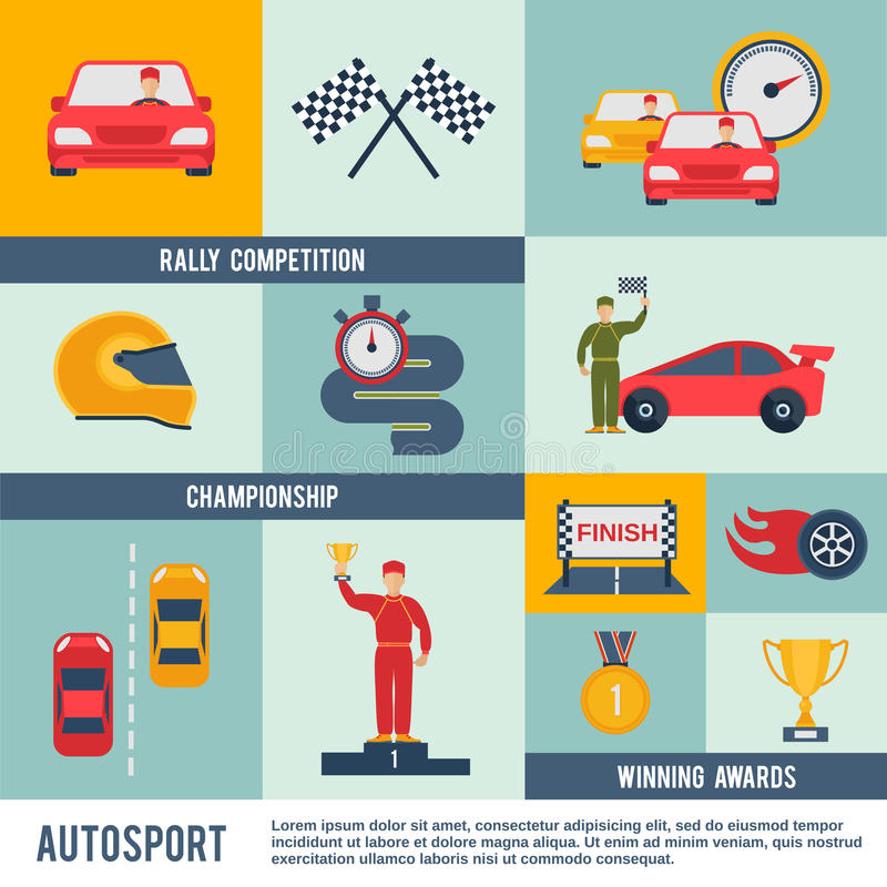 Icono auto del deporte plano ilustración del vector