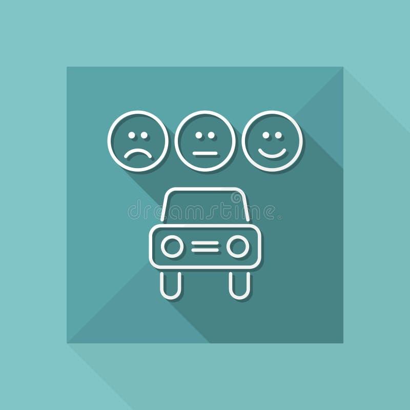 Icono automotriz del grado - serie fina libre illustration