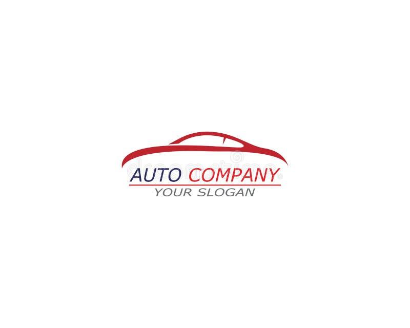 Icono automotriz del vector de Logo Template del coche stock de ilustración