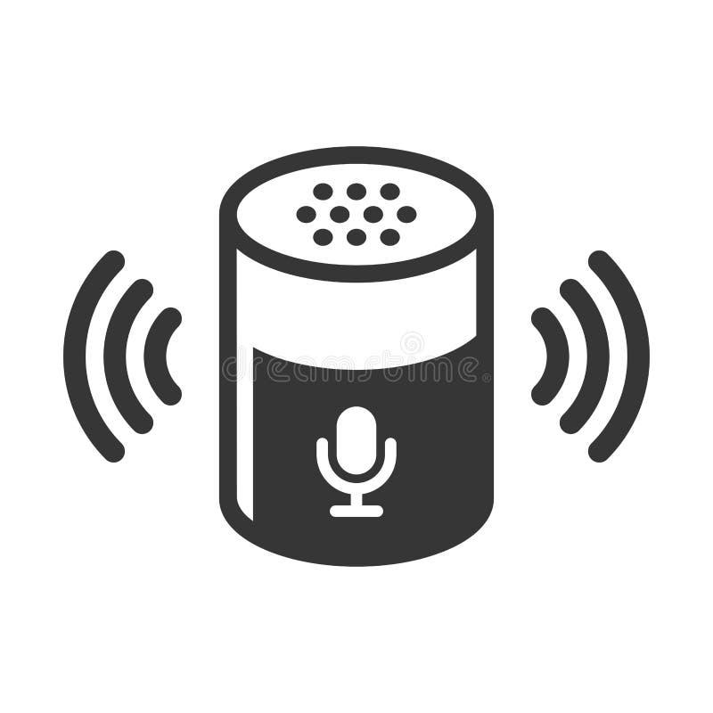 Icono auxiliar de Smart del dispositivo de la voz en el fondo blanco Vector ilustración del vector
