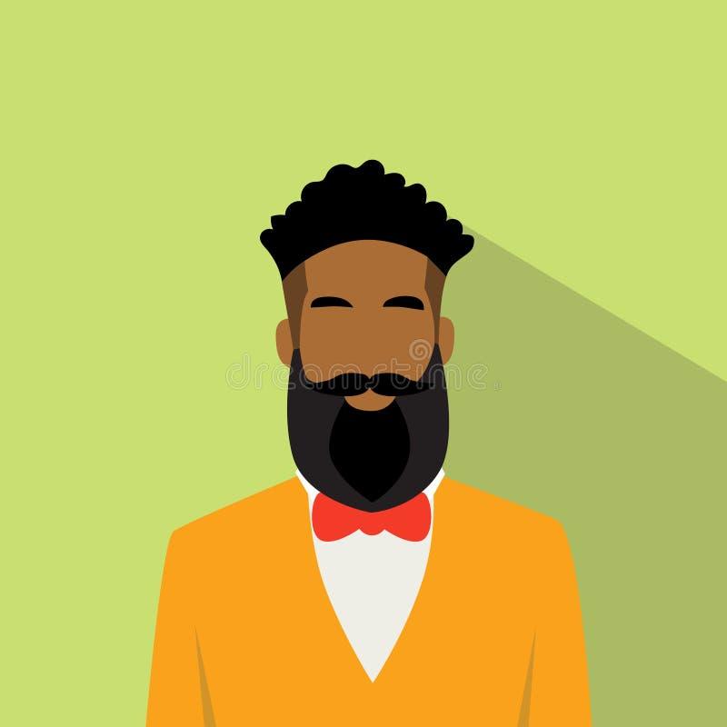 Icono Avatar masculino étnico afroamericano del perfil del hombre de negocios libre illustration