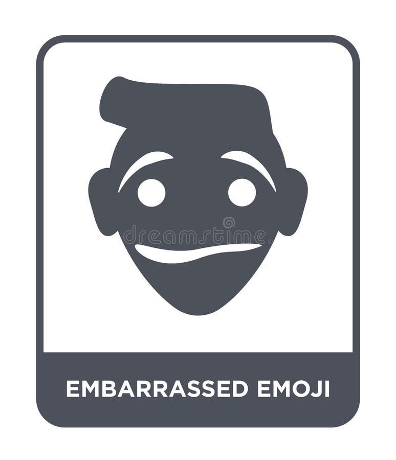 icono avergonzado del emoji en estilo de moda del diseño icono desconcertado del emoji aislado en el fondo blanco icono avergonza libre illustration
