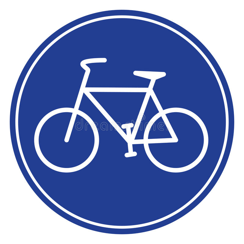 Icono azul de la bici libre illustration