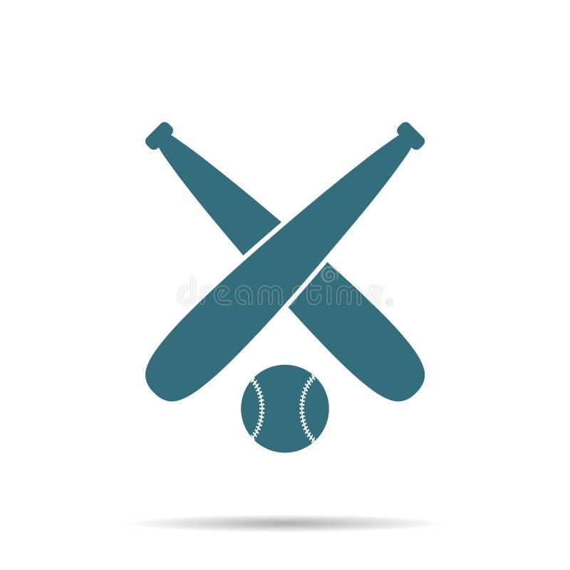 Icono azul de la bola del béisbol aislado en fondo Muestra plana simple moderna Negocio, concepto de Internet libre illustration